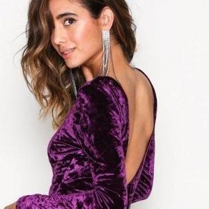 Nly Trend Scoop Back Velvet Body Violetti