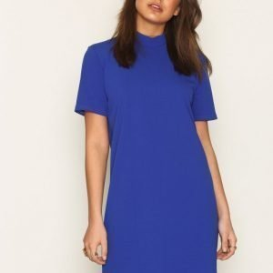 Nly Trend Scuba Crepe Dress Loose Fit Mekko Cobalt Blue