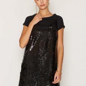 Nly Trend Sequin Slip In Dress Paljettimekko Musta