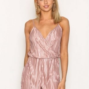 Nly Trend Simple Pleat Playsuit Mauve