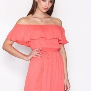 Nly Trend Singoalla Short Dress Loose Fit Mekko Peach