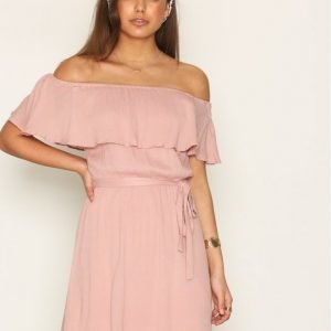 Nly Trend Singoalla Short Dress Loose Fit Mekko Vaalea Pinkki