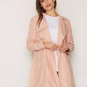 Nly Trend Soft Spring Trench Coat Trenssitakki Vaaleanpunainen