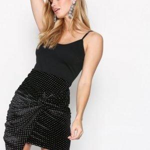 Nly Trend Sparkling Dot Skirt Minihame Musta