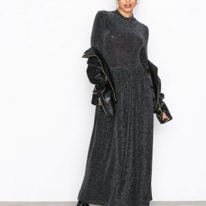 Nly Trend Sparkling Polo Dress Paljettimekko Musta