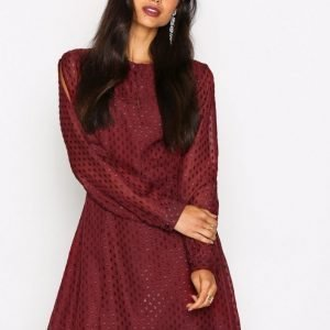 Nly Trend Stay All Night Dress Loose Fit Mekko Burgundy