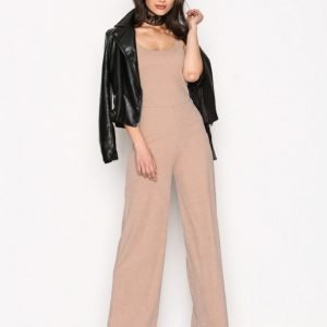 Nly Trend Strappy Jumpsuit Mushroom