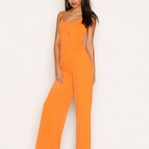 Nly Trend Strappy Jumpsuit Oranssi