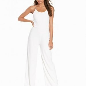Nly Trend Strappy Jumpsuit Valkoinen
