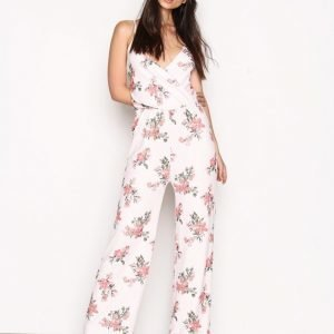 Nly Trend Strappy Print Jumpsuit Flowers