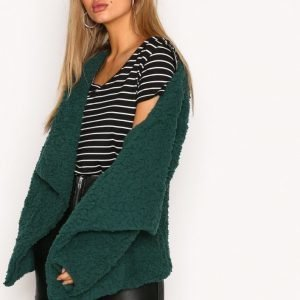Nly Trend Teddy Soft Jacket Tekoturkki Dark Green