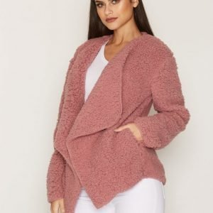Nly Trend Teddy Soft Jacket Tekoturkki Dusty Pink