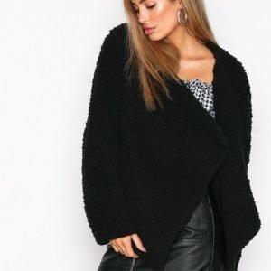 Nly Trend Teddy Soft Jacket Tekoturkki Musta