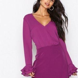 Nly Trend The Shape I'm In Dress Skater Mekko Violetti