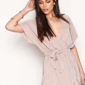 Nly Trend Tropic Robe Playsuit Vaalea Pinkki