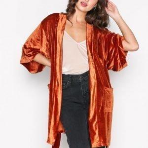 Nly Trend Velvet Solid Set Jacket Jakku Ruosteenruskea