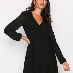 Nly Trend Wrapped Dress Skater Mekko Musta