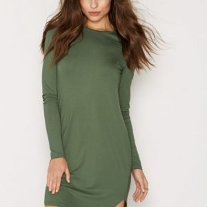 Nly Trend Your Way Ls Dress Pitkähihainen Mekko Khaki
