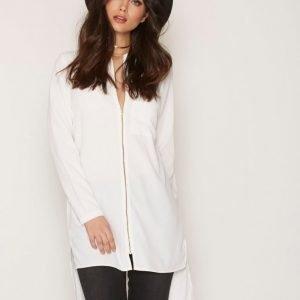 Noisy May Nmaya L / S Long Shirt Ssx Arkipaita Valkoinen
