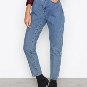 Noisy May Nmtaylor Hw Ankle Jeans 8b Loose Fit Farkut Sininen