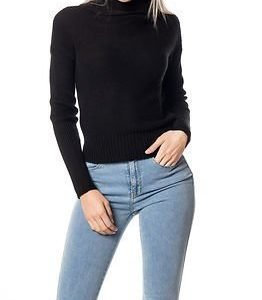 Noisy may Arrow Rollneck Knit Black