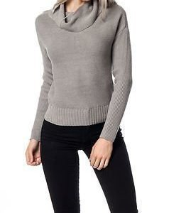 Noisy may Arrow Rollneck Knit Light Grey Melange