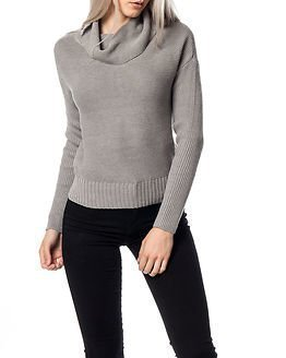 Noisy may Arrow Rollneck Knit Light Grey Melange