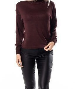 Noisy may Becca High Neck Cropped Knit Decadent Chocolate