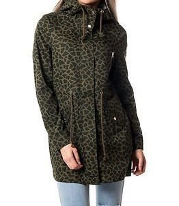 Noisy may Dean Jacket Ivy Green Giraffe Print
