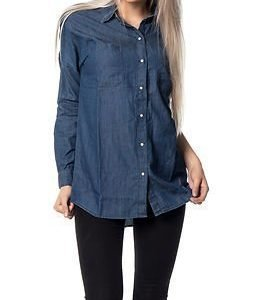 Noisy may Erik Oversize Shirt Medium Blue Denim