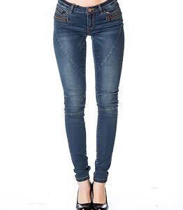 Noisy may Eve 2Zip Jeans Dark Blue Denim