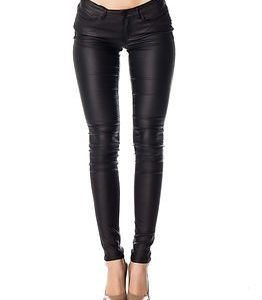 Noisy may Eve Slim Coated Pant Black