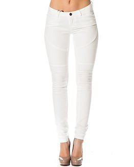 Noisy may Eve Super Slim Biker Jeans Bright White