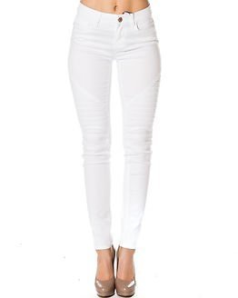 Noisy may Ex Lucy Biker Jeans White