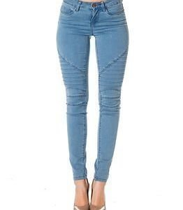 Noisy may Ex Lucy Biker Light Blue Denim