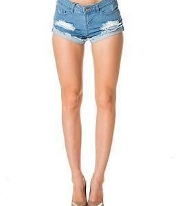 Noisy may Fran Denim Shorts Light Blue Denim
