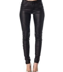 Noisy may Lucy Coated Biker Jeans Black