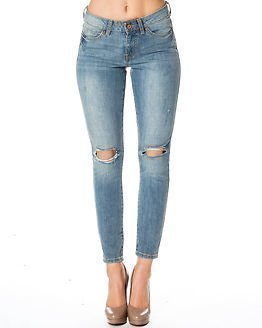 Noisy may Lucy NW Hole Jeans Light Blue Denim