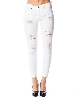 Noisy may Lucy Superslim Ankle Jeans Bright White
