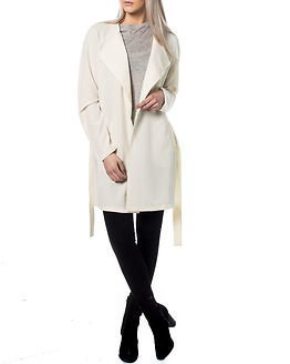 Noisy may Tria L/S Trenchcoat White Asparagus