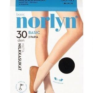 Norlyn Basic 30 Den Nilkkasukat 2-Pack