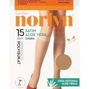 Norlyn Satin Aloe Vera 15 Den Polvisukat 2-Pack