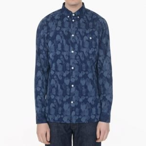 Norse Projects Anton Indigo Leaf