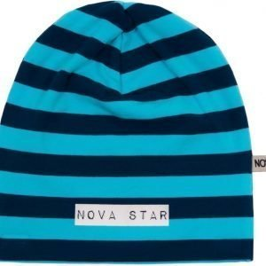 Nova Star Pipo W-Beanie Striped Blue Blue