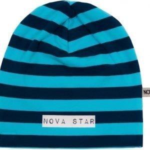 Nova Star Pipo W-Beanie Striped Blue Blue