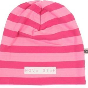Nova Star Pipo W-Beanie Striped Pink