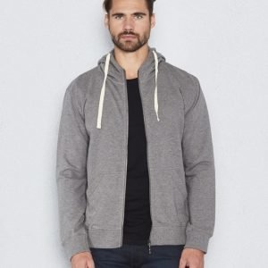 Nudie Jeans Elvin Light Zip Hood Dark Grey