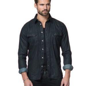 Nudie Jeans Jonis Denim Shirt Black Duke