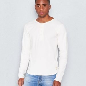 Nudie Jeans L/S Henly Rib Offwhite