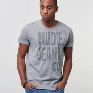 Nudie Jeans O -Neck Tee NJ Scribble